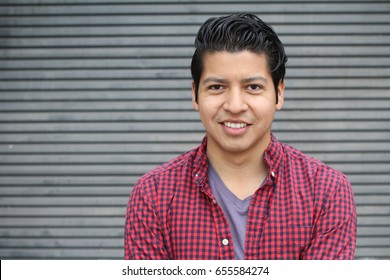 Beauty Portrait of Handsome Hispanic Young Male