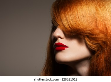 Beauty Portrait. Healthy Bright Hair
