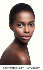 Beauty portrait of a sensual African woman.