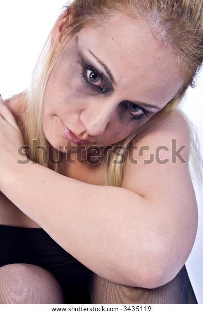 A beauty portrait taken from a beauty woman model in the studio