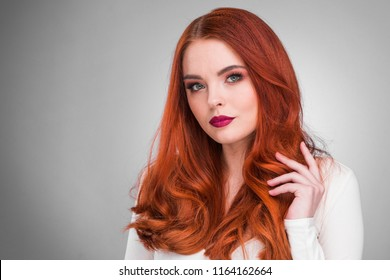Model picture of redhead very