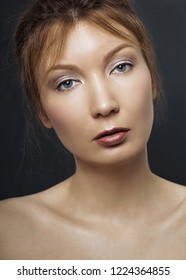 Beauty portrait of young adult woman.