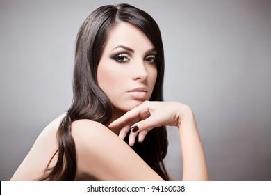 Beauty portrait of young beautiful girl