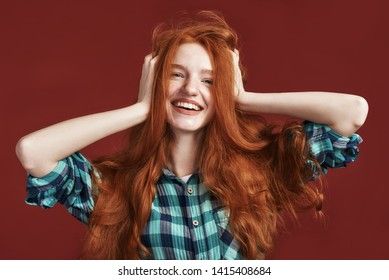 Brown and blond make redhead 8068