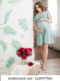 Beauty Pregnant Woman . Pregnant Belly. Beautiful Pregnant Woman Expecting Baby. Maternity concept. Baby Shower