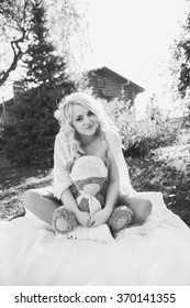Beauty Pregnant Woman . Pregnant Belly. Beautiful Pregnant Woman Expecting Baby. Maternity concept. Black and white
