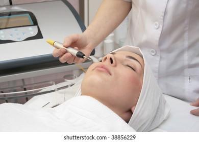 Beauty salon. Cose up.