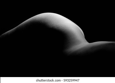 Beauty sexy woman body as black & white background