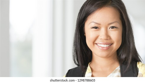 Beauty and skin care concept of a young asian woman.          - Image