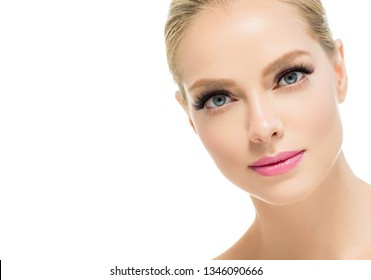 Beauty skin and hair woman face cosmetic concept beautiful model