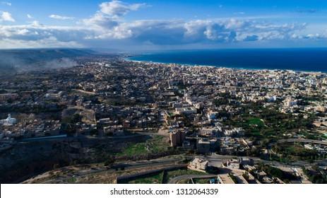 a beauty sky photo for the city of Benghazi - Libya