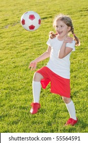 Beauty soccer player