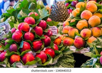 The beauty of the Spanish fruit market, Barselona