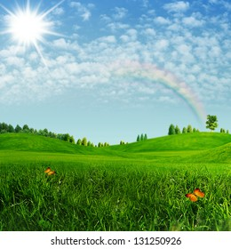 Beauty summer. Abstract environmental backgrounds