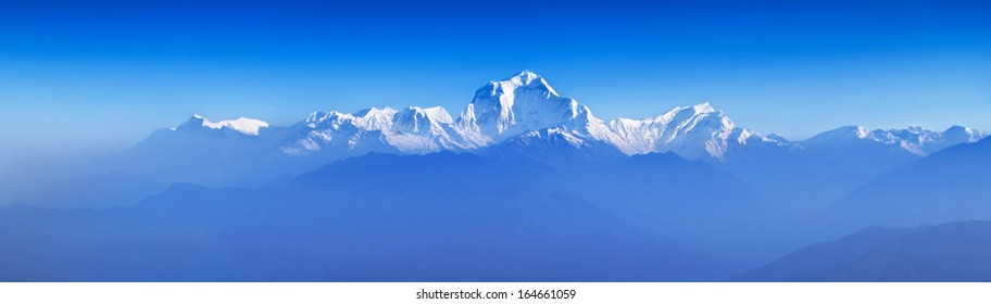 Beauty sunrise at Himalayas from Poon Hill viewpoint