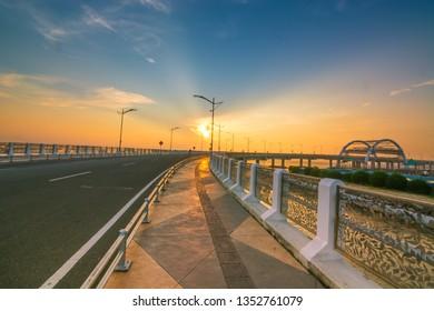 the beauty of sunrise, surabaya city, east java, indonesia