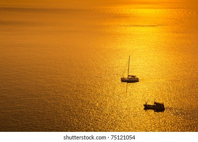Beauty Sunset over Andaman sea , Phuket South of Thailand