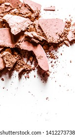 Beauty texture, cosmetic product and art of make-up concept - Crushed eyeshadows isolated on white background