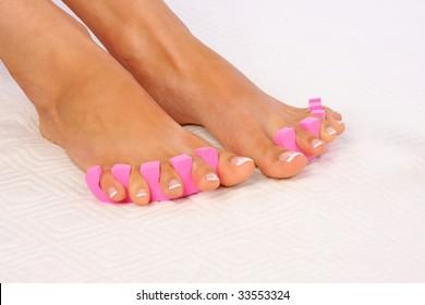 Beauty treatment photo of nice feet