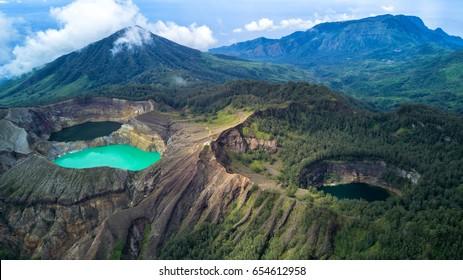 "Beauty of Tricolor Lake ""Kelimutu"", Flores, Indonesia"