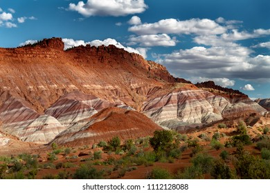 Beauty view of the rainbow-like layers of Grand Staircase Escalante-National Monument in Paria Utah, USA.