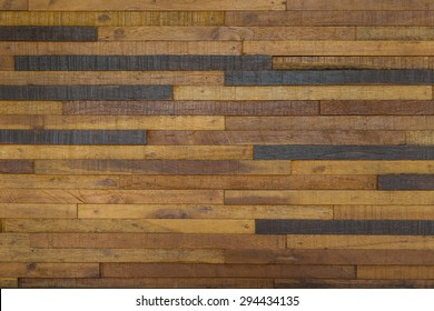 The beauty of the wall, built of wood.