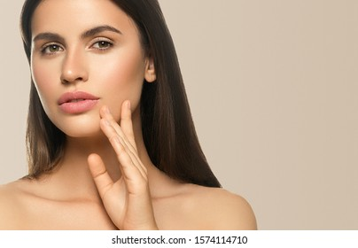 Beauty woman beautiful model healthy skin face close up