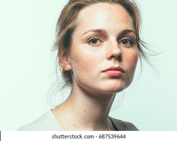 Beauty woman face close up portrait