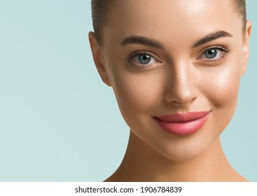 Beauty woman healthy skin fresh clean beautiful female model face