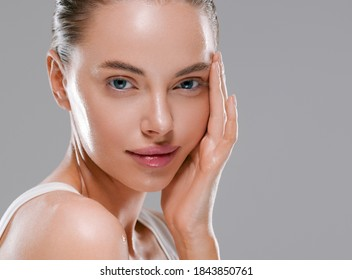 Beauty woman natural clean healthy skin