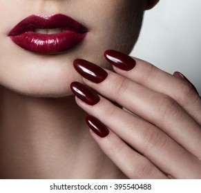 1 890 Burgundy Burgundy Nails Images Royalty Free Stock Photos On