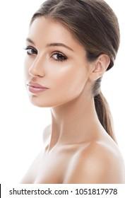 Beauty woman skin healthy face, cosmetic portrait
