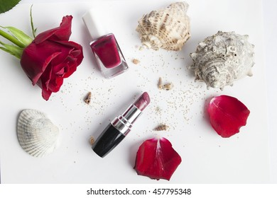 beauty for women - red cosmetics