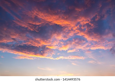 Beautyful clouds on sunset sky