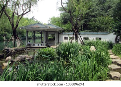 Beautyful park around Black Tiger Springs in Jinan city, China