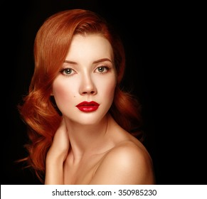 Beauutiful young woman with red hair