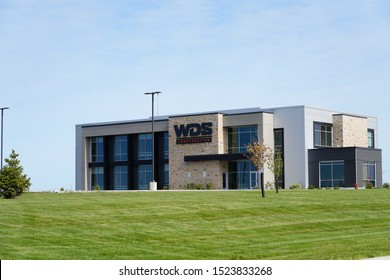 Beaver Dam, Wisconsin / USA - October 6th, 2019: WDS Construction Building. WDS is a General Contractor and Commercial Construction Company specializing in commercial facilities of all types.