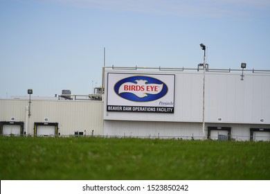 Beaver Dam, Wisconsin / USA - October 6th, 2019: Birds Eye frozen vegetable production company supplies jobs to many in the Beaver Dam city and provides frozen food all over USA.