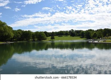 Beaver Lake  - Mount Royal Park, Montreal, Quebec, Canada (Lac des Castors - Parc Mont Royal, Montréal, Québec, Canada)