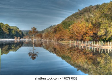 Beavers bend state park in southeast Oklahoma in the fall