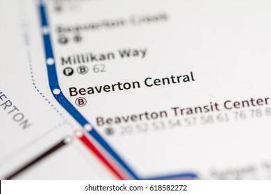 Beaverton Central Station. Portland Metro map.