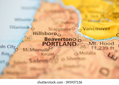 Beaverton Oregon Usa On Map Stock Photo Edit Now 1030306078