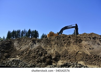 Beaverton Oregon USA â?? August 13, 2016: Deforested construction site to build new houses