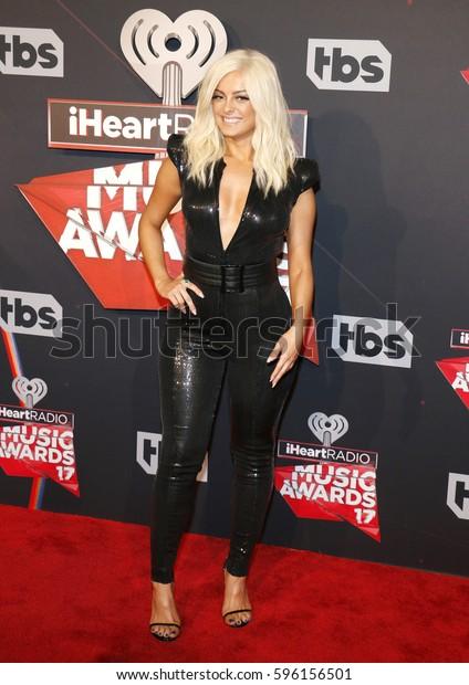 Bebe Rexha 2017 Iheartradio Music Awards Stock Photo (Edit