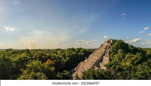 Becan Maya Ruins in the Yucatan, Mexico.