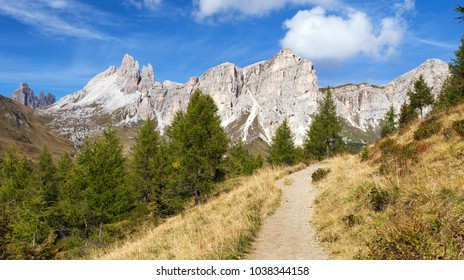 Becco di Mezzodi and Rocheta, Beautiful Alpi dolomiti mountains in Italia