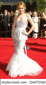 Becki Newton attends the 59th Annual Primetime Emmy Awards held at the Shrine Auditorium in Los Angeles, California, United States on September 16, 2007.