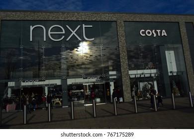 Beckton London UK 02/12/2017. Costa in shop Next new coffee shop.