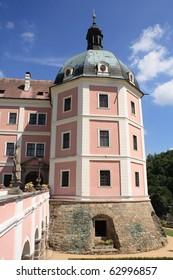 Becov nad Teplou Castle, West Bohemia, Czech Republic, Central Europe. Summertime.