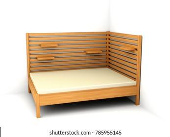 Bed 150/200. 3D model.